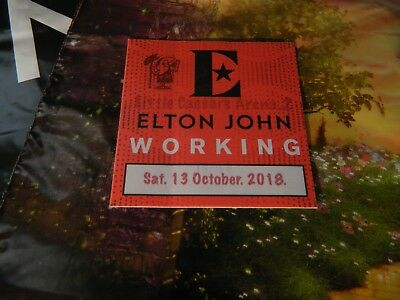 Elton John Collectable Farewell Tour Concert Working Pass and merch plastic bag