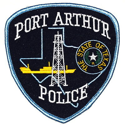 PORT ARTHUR TEXAS TX Sheriff Police Patch OIL WELL BATTLE SHIP STATE SEAL ~