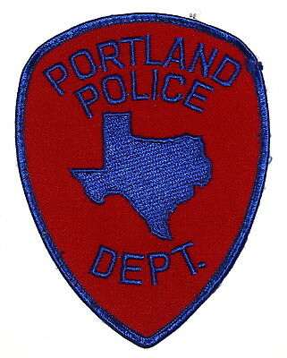 PORTLAND TEXAS TX Sheriff Police Patch STATE SHAPE OUTLINE CITY STAR ~ USED