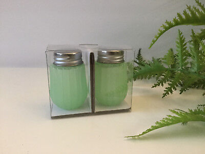 Hearth & Hand Magnolia GREEN SALT & PEPPER Shakers GLASS NWT in Pkg