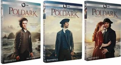 Poldark: The Complete Series Seasons 1-3 (DVD, 9-Discs) 1, 2, 3