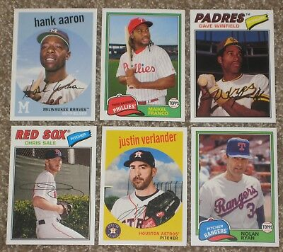 2018 TOPPS ARCHIVES BASEBALL * YOU PICK 25 * COMPLETE YOUR SET 1-300 +New Cards