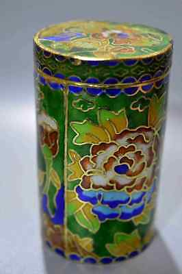 Collectable Cloisonne Carve Flower Ancient King Use Chinese Old Toothpick Box