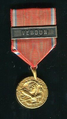 1916 Battle of Verdun World War I Medal with Ribbon