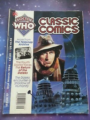 Doctor Who Magazine Classic Comics Issue 17 Vintage Dwm Cybermen 6Th Dr