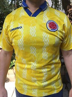 2864c5d87 Umbro Colombia Football Shirt Size L Used 1994 World Cup Escobar RARE RARE