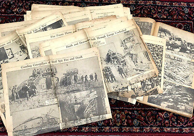 WORLD WAR I PHOTO SPREAD - AMAZING Orig.1934 20th-Anniv Newspaper Series WWI WW1