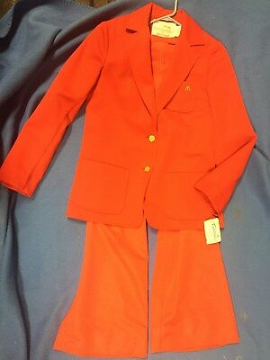 1960's McDONALD'S SERVER GREETER OUTFIT - DRESS JACKET & BELL BOTTOM PANTS