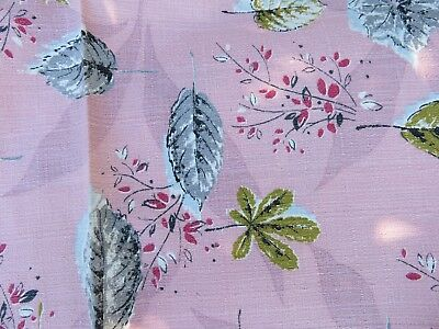 Vintage 1940's 50's Baby PINK on PINK NUBBY Barkcloth NEVER USED 25 Yards