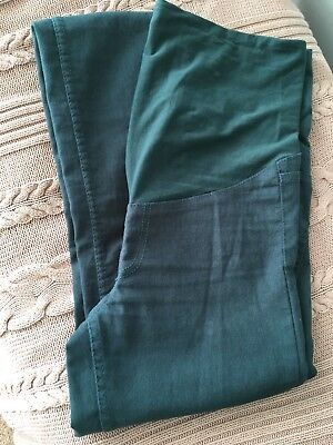 H&M Maternity Jeans, Size 10, Over Bump In Green