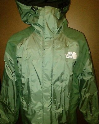 The North Face Vintage Mens Hooded Gore Tex Jacket Mesh Lining Big Tag Large