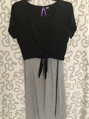 Seraphine Maternity/nursing Dress Size 8 In Black And Grey