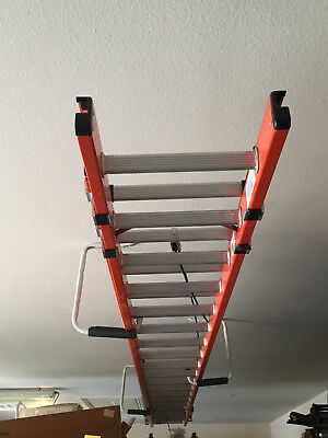 40' Werner D6240-2 Extension Ladder with PK80-2 Automatic Ladder Leveler