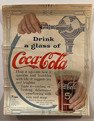 Coca Cola Print Advertising 1912, 1913, 1918, 1919 - 1912 Coca Cola 'the Truth'