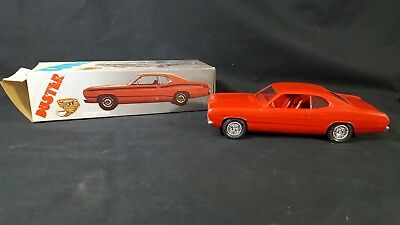1972 Plymouth Duster Rally Red Auto Dealership PROMO CAR EX w Box