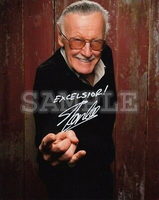 Stan Lee signed 5x7 Autograph Photo RP - Free ShipN! Marvel Avengers Spiderman