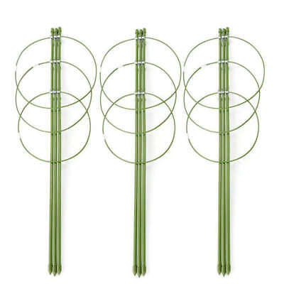 Climbing Plants Support, Garden Trellis Flowers Tomato Cages Stand Set Of 3 I4A4