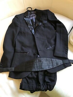 Boys Paisley Of London 5 Piece Black Suit Age 12 Years