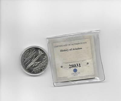 Liberia 5 Dollar Coin 2000 American Mint Uncirculated with COA air force one