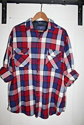 Vintage Coleman Outdoors Flannel Shirt Size XL Red Blue White Lumberjack Retro