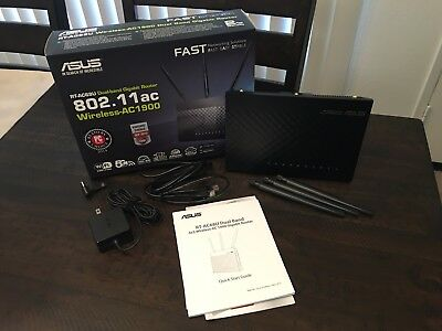 ASUS AC1900 1300 Mbps 4-Port Gigabit Wireless AC Router (RT-AC68U)