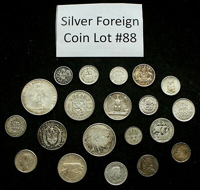 Foreign Silver Coin Lot: Collection of Old World Silver Coins #88