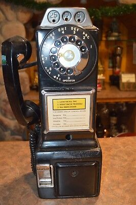 Vintage Automatic Electric Company 3 Slot Coin Payphone Telephone