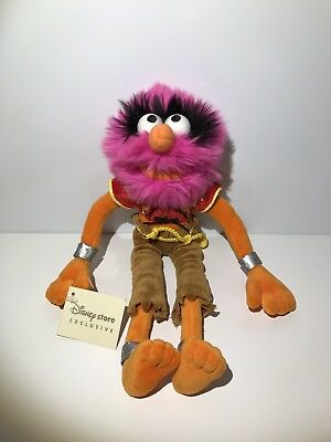 """Disney Store Exclusive Rare THE MUPPETS 12"""" ANIMAL PLUSH SOFT TOY With Tags"""
