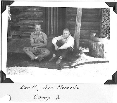 Vintage Photograph 1940 Camp 3 Pocono St Maries Idaho Forest Workers Cabin Photo