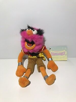"""Disney Store THE MUPPETS Animal Small 6"""" PLUSH SOFT TOY With Tags"""