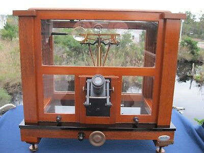ANTIQUE CHRISTIAN BECKER MICRO ANALYTICAL BALANCE SCALE c.1925