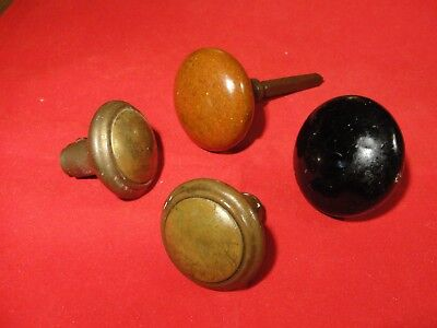 Vintage/antique Lot Of 4 Brass Door Knobs - See Photos - P1183