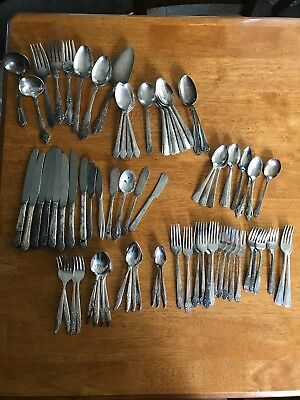 Mixed Lot Silverplate Flatware 77 Pieces