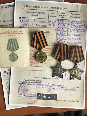 Russian Soviet Order Of Glory Medal Set - Rare II and III Class