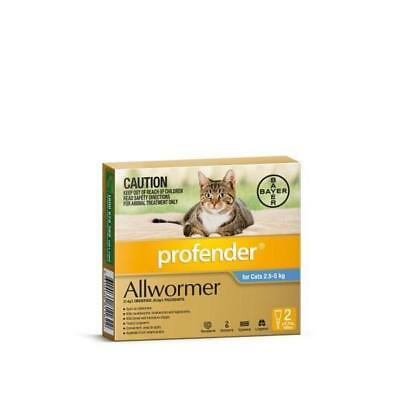 Profender 2.5kg-5kg Two Pack wormer for cats