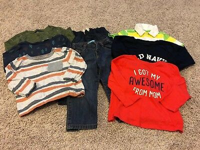 Large Lot Of 18-24 Month Old Navy Baby Boy Clothes - Gently Used