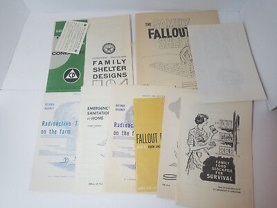 Group Of Radioactive Fallout Shelter Design Pamphlets Department of Agriculture
