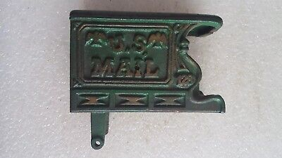 Vintage ? Cast Iron U.S. Mail Wagon Old Metal Toy to be Horse Drawn * Green Gold
