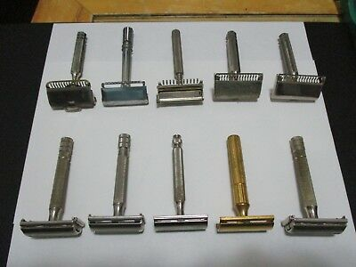 Vintage Safety Razor Lot of 10