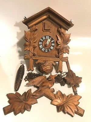 Antique Cuckoo Clock Made in the Black Forest of Germany Untested