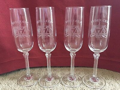 Ryder Cup Champagne Glasses 4 Mint