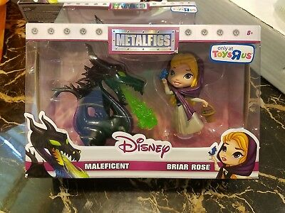 Disney   Metalfigs   Maleficent Dragon  &  Briar Rose  Metal  Sleeping Beauty