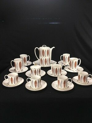 22pc. Susie Cooper Hyde Park Coffee Set Service For 4 Made In England (mc39)