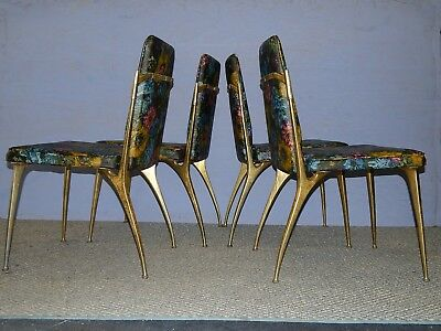 vtg space age chairs Daystrom mid century modern dining aluminum impala gazelle