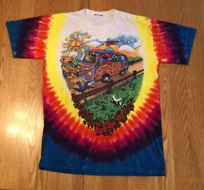 Vintage 1994 The Grateful Dead Summer Tour Tye Dye Liquid Blue Shirt L