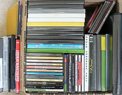 Large mixed lot of 55 CD DVD Blu-Ray Blank standard Slim Cases Holder Jewel Case