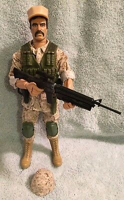 "GI Joe 12"" 12 Inch Leatherneck Desert Marine Custom Kitbash Real American Hero"