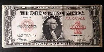 1923  $1 Red Seal Legal Tender Note- Fr. 40 Very Fine No Stains Solid Note