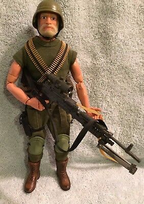 "GI Joe 12"" 12 Inch Rock N' Roll Machine Gunner Custom Kitbash Real American Hero"