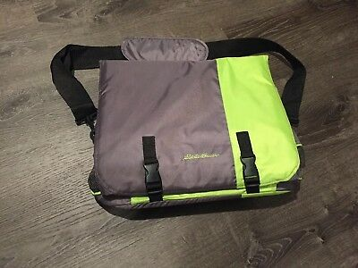 Eddie Bauer Portable Travel Baby Infant Co Sleeper Bed Unisex Color Gray/Green